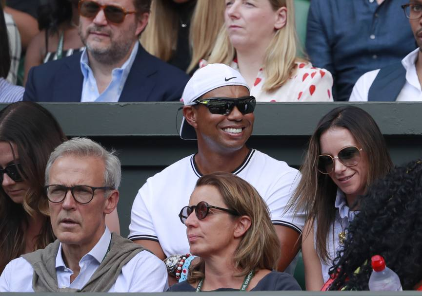 Nel box di Serena Williams un tifoso molto speciale: Tiger Woods. Ap