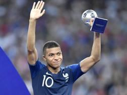 Kylian Mbappé, 19 anni, miglior giovane dei Mondiali. Ap