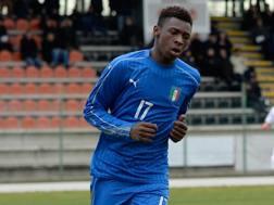 Moise Kean, 18 anni, attaccante della nazionale italiana under 19. Getty