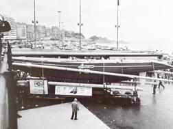 Il salone del 1983 con Azzurra esposta