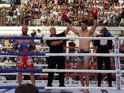 Il trionfo di Gabriele Casella, campione del mondo di kickboxing al Foro Italico