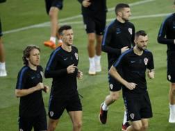 Marcelo Brozovic insieme ad Ivan Perisic nell'avventura Mondiale con la nazionale croata. Ap