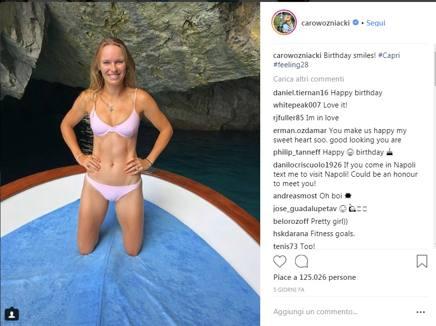 Caroline Wozniacki su Instagram