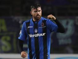 Andrea Petagna con la maglia dell'Atalanta. Ansa