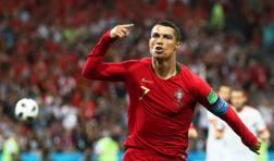 Cristiano Ronaldo, 33 anni con la maglia del Portogallo. Epa