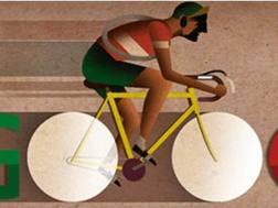 L'immagine dedicata da Google a Bartali