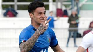 Gianluca Scamacca, attaccante dell'Italia. Getty Images