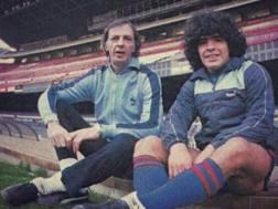 Menotti e Maradona. Instagram