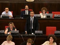 Il consiglio comunale con il sindaco di Milano, Sala. Lapresse