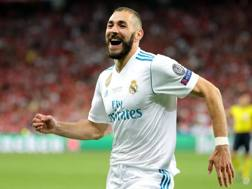 Karim Benzema, attaccante francese del Real Madrid. Epa