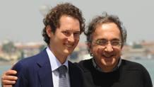 John Elkann e Sergio Marchionne in una foto d'archivio. ANSA