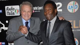 José Altafini, 80 anni il 24 luglio, insieme a Pelé, 77 anni. LaPresse