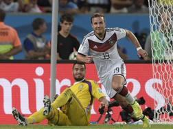 Mario Götze, 26 anni, autore del gol decisivo nella finale Mondiale del 2014. LaPresse