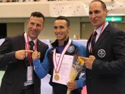D'Onofrio con la medaglia d'oro