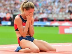 La commozione di Elena Vallortigara, 26 anni, dopo il 2.02 COLOMBO