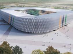Il rendering di come sarà il nuovo stadio del Venezia