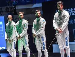 Da sinistra: Alessi Foconi, Daniele Garozzo, Giorgio Avola e Andrea Cassarà. Bizzi