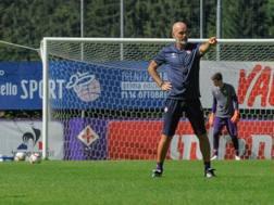 L'allenatore della Fiorentina Stefano Pioli