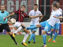 Filip Bradaric, 26 anni, in azione contro il Milan. Getty Images