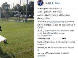 Il commento di M'Baye Niang al video postato su Instagram da Mario Balotelli
