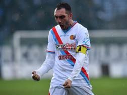 Francesco Lodi, 34 anni, centrocampista del Catania. LaPresse