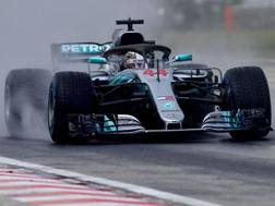 Lewis Hamilton, pole n 77 in carriera. Afp