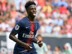 Timothy Weah, 18 anni, attaccante del Psg. Afp