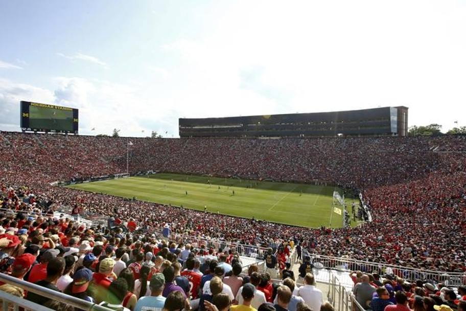 Il Michigan Stadium si è presentato così per Manchester United-Liverpool, partita della International Champions Cup