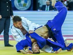 Fabio Basile in azione a Zagabria nella finale contro Gyakova