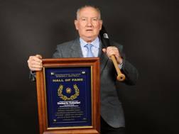 Umberto Calzolari 4 anni fa, quando entrò nella Hall of Fame