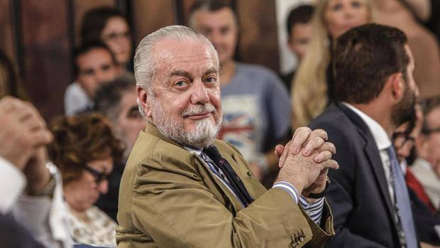 Il presidente del Napoli Aurelio De Laurentiis. Ansa