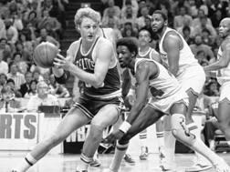 Larry Bird, nato il 7 dicembre 1956 a West Baden, Indiana. Ha vinto tre titoli NBA con i Boston Celtics AP
