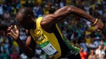 """Usain Bolt, giamaicano, 31 anni, primatista mondiale di 100 (9""""58) e 200 (19""""19) LAPRESSE"""