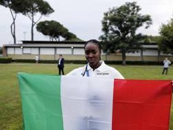 Daisy Osakue, nata a Torino nel gennaio '96 da genitori nigeriani, pesista e discobola azzurra ANSA