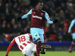 Pedro Obiang, 26 anni, in azione con la maglia del West Ham. AP