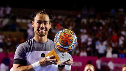 Treccine e trofeo messicano per Fognini.Epa