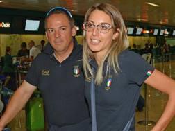 Giovanni Pellielo e Jessica Rossi oro nel misto Fossa olimpica agli Europei di tiro a volo. Ansa