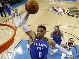 Russell Westbrook, 29 anni, a Oklahoma City dal 2008. Epa