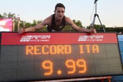 Filippo Tortu, 22 anni, dopo il record italiano sui 100 metri EPA