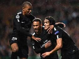 Mbappe, Neymar e Cavani AFP