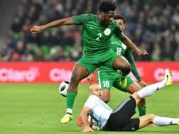 L'esterno nigeriano di proprietà del Chelsea Ola Aina, 21 anni. Afp