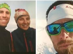 Luca Lombardini, la fidanzata, Elisa Berton e il fratello Alessandro. Ansa