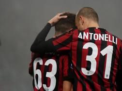 Luca Antonelli, ex difensore del Milan. Lapresse