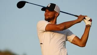 Steph Curry sfida i pro' del golf