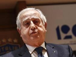 Il commissario straordinario FIGC Roberto Fabbricini . ANSA