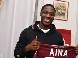 Ola Aina, il nuovo esterno d'attacco del Torino. Lapresse