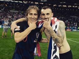 Luka Modric e Marcelo Brozovic al Mondiale