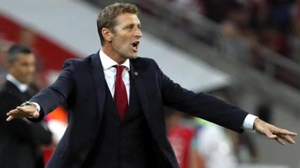 Massimo Carrera, allenatore dello Spartak Mosca. Epa