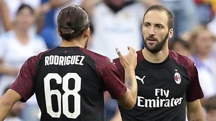 Higuain e Rodriguez del Milan. Ap