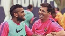 Dani Alves e Leo Messi